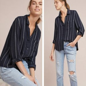 •CLOTH & STONE• Tulane Button Down Blouse Striped